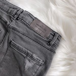 Zara girls jean distressed skinny fit size 8
